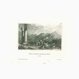 Unknown, Ancient View of the Ruins of Palmira, Original Lithograph, Mid-19th Century