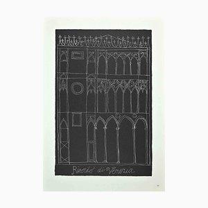 Franco Gentilini, Memory of Venice, Original Offset Print, 1970s