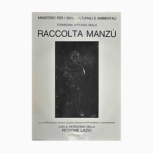 Manzu Collection, Vintage Offset Poster, Giacomo Manzu, 1981