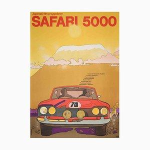 Unknown, Polish Poster of Safari 5000, Original Offset Print, 1975