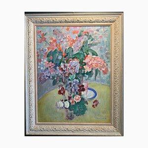Gleb Savinov, Flower Pot, Oil on Canvas, 1988