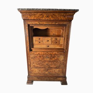 Antique French Walnut Escritoire Secretaire