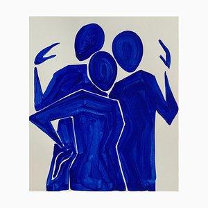Waleria Matelska, Three Blue Figures, 2021
