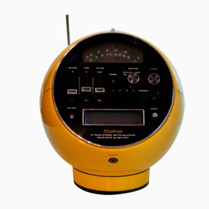 Weltron 2001 Model Space Ball Yellow Radio, 1970s
