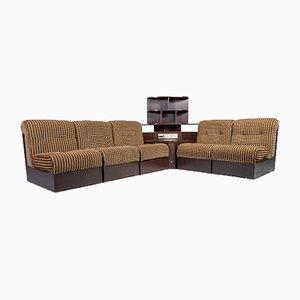 Fabric 5-Seat Sofa with Radio, 1970s, Set of 6