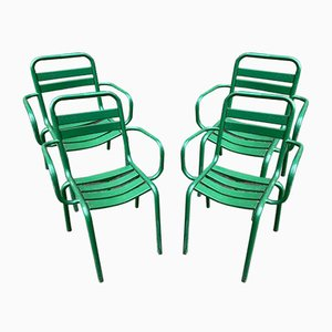 Vintage Armchairs from Tolix, 1950s, Set of 4