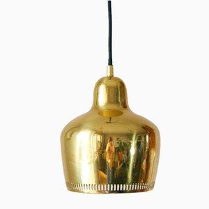 Vintage Golden Bell Pendant Lamp by Alvar Aalto for Artek, 1937