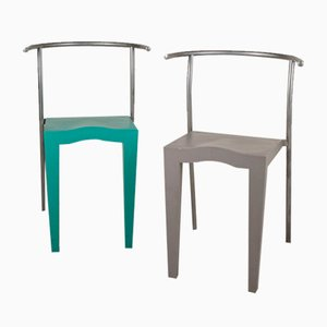 Mod. Dr. Globe Chairs by Philippe Starck for Kartell Modernariato, 1980s, Set of 2