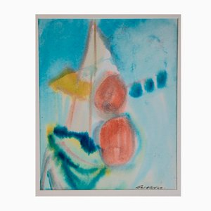 Ezio Gribaudo, Barche, 1996, Mixed Media Painting