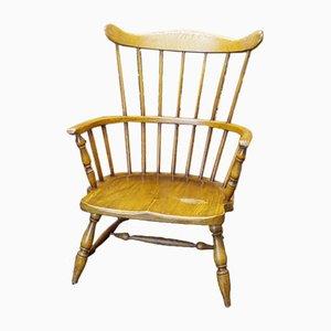 Mid-Century Windsor Style Bent Oak Armchair