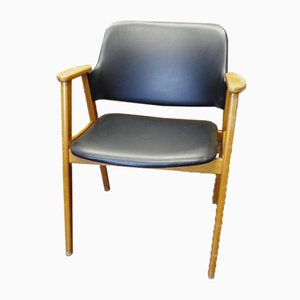 Mid-Century Office Armchair in Eco Leather
