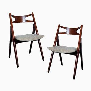 CH29P Sawbuck Chairs by Hans Wegner for Carl Hansen & Son, Set of 2