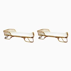 Beds in Rattan, Set of 2