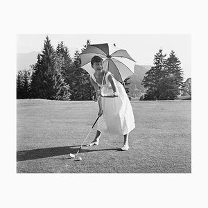 Golfing Hepburn Pigment Fine Art Baryta Print by Hulton Archive