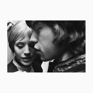 Faithfull to Jagger Pigment Fine Art Baryta Print by Hulton Archive