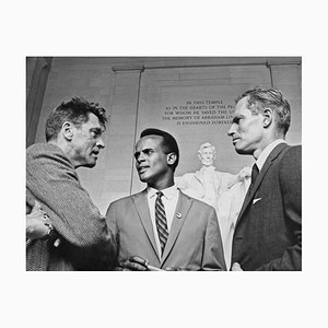 Actors at Civil Rights March Pigment Fine Art Baryta Print by Archive Photos