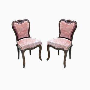 19th Century Mahogany Chairs, Set of 2