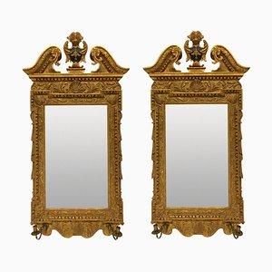 English Georgian Style Mirrors, Set of 2