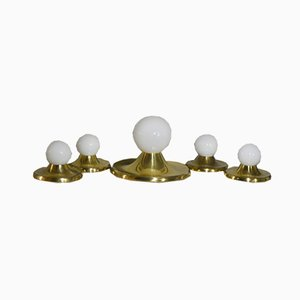 Ceiling Ball Light by Pier Giacomo and Achille Castiglioni for Flos, Italy 1960s, Set of 5