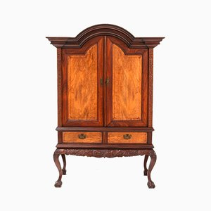 Colonial Padouk Chippendale Cabinet, 1930s