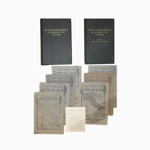 Bond Opera Cartographic, International Atlas of the Italian Touring Club with Dedication by Benito Mussolini, Italy 1927, Set of 9