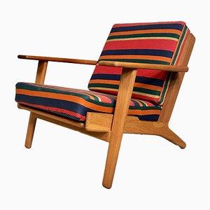 Danish GE-290 Plank Easy Chair in Oak by Hans J. Wegner for Getama, 1950s