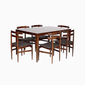 Danish Rosewood Dining Table & Chairs by Poul Hundevad for Hundevad & Co., 1960s, Set of 7