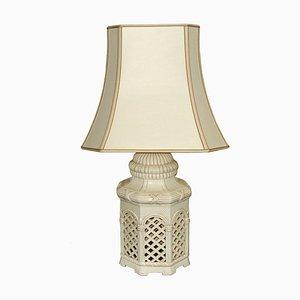 Mid-Century Italian Ivory Glazed Terracotta Table Lamp