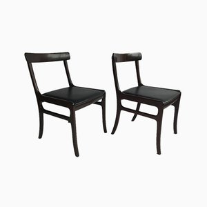 Danish Rungstedlund Rosewood Chairs by Ole Wanscher, 1960s, Set of 2