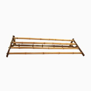 Bamboo and Brass Coat and Hat Rack, 1960s