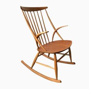 Vintage Rocking Chair by Illum Wikkelsø, 1960s