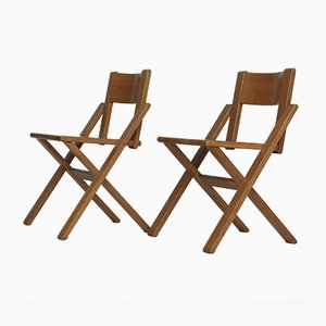 Vintage Oak Side Chairs, 1970s, Set of 2