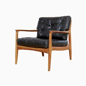 Mid-Century Cherry Wood Lounge Chair by Eugen Schmidt for Soloform, 1950s