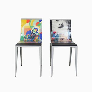 Billboard Chairs by Maurezzio Favetta for Lisar Italy, Set of 2