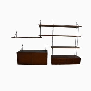 Teak Wall Shelf System, 1950s