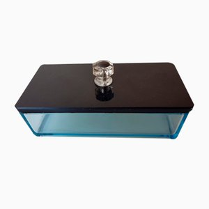 Art Deco Glass Lid Box Storage