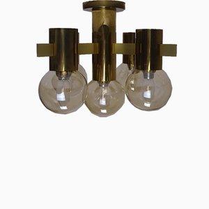Brass Ceiling Lamp by Hans Agne Jakobsson for Teka, 1960s