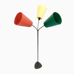 Traffic Cone 3-Arm Floor Lamp in the Style of Svend Aage Holm Sorensen from Holm Sorensen & Co, 1960s