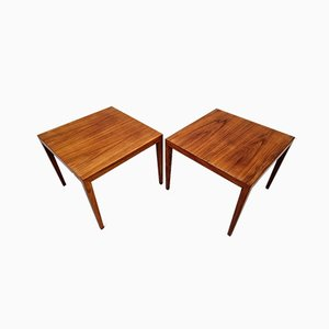 Rosewood Side Table by Severin Hansen for Haslev, Set of 2