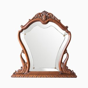Antique Spanish Carved Wood Mirror