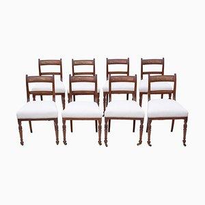 Mahogany Dining Chairs, 1860s, Set of 8
