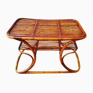 Mid-Century Italian Bamboo Coffee Table, 1950s