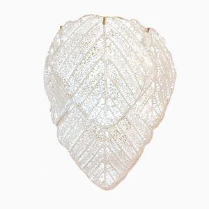 Wall Light with Murano Glass Leaves Italy, 1980s