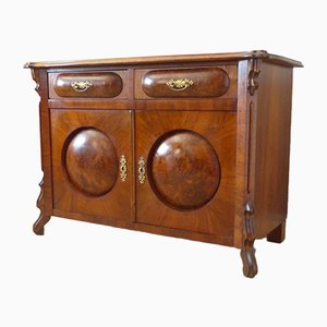 Antique Dresser with Burl Veneer, 1850s