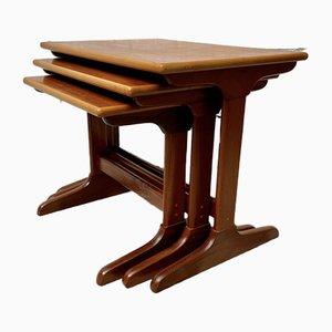 Vintage Teak Nesting Coffee Tables, Set of 3