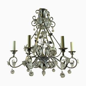 Mid-Century Chandelier in the Style of Maison Bagues