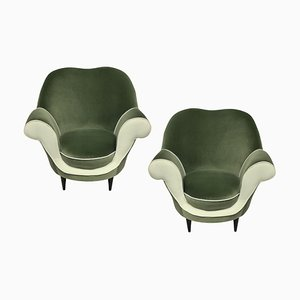 Sculptural Armchairs by Ico Parisi, 1950s, Set of 2