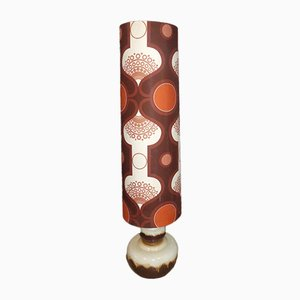 Floor Lamp with Ceramic Base and Space Age Shade, 1970s
