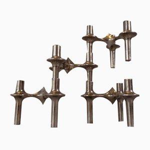 Modular Candleholders, 1960s, Set of 4