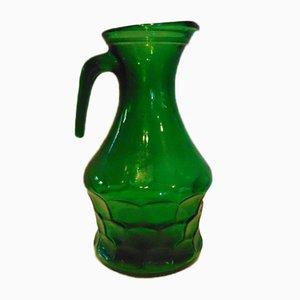 Vintage Green Glass Jug, 1970s